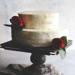 Best ever wedding cake recipe - white almond buttercream with strawber