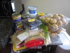 Potato Skins 4 Ways Ingredients