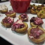 blackberry goat cheese potato skins