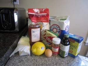 Baklava cookie ingredients