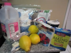 Lemon Berry Pound Cake Loaf Ingredients