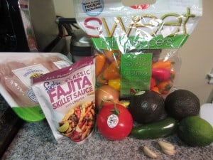 Chicken Fajita ingredients