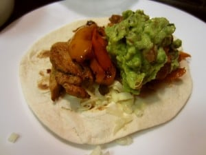 Chicken Fajita and guacamole