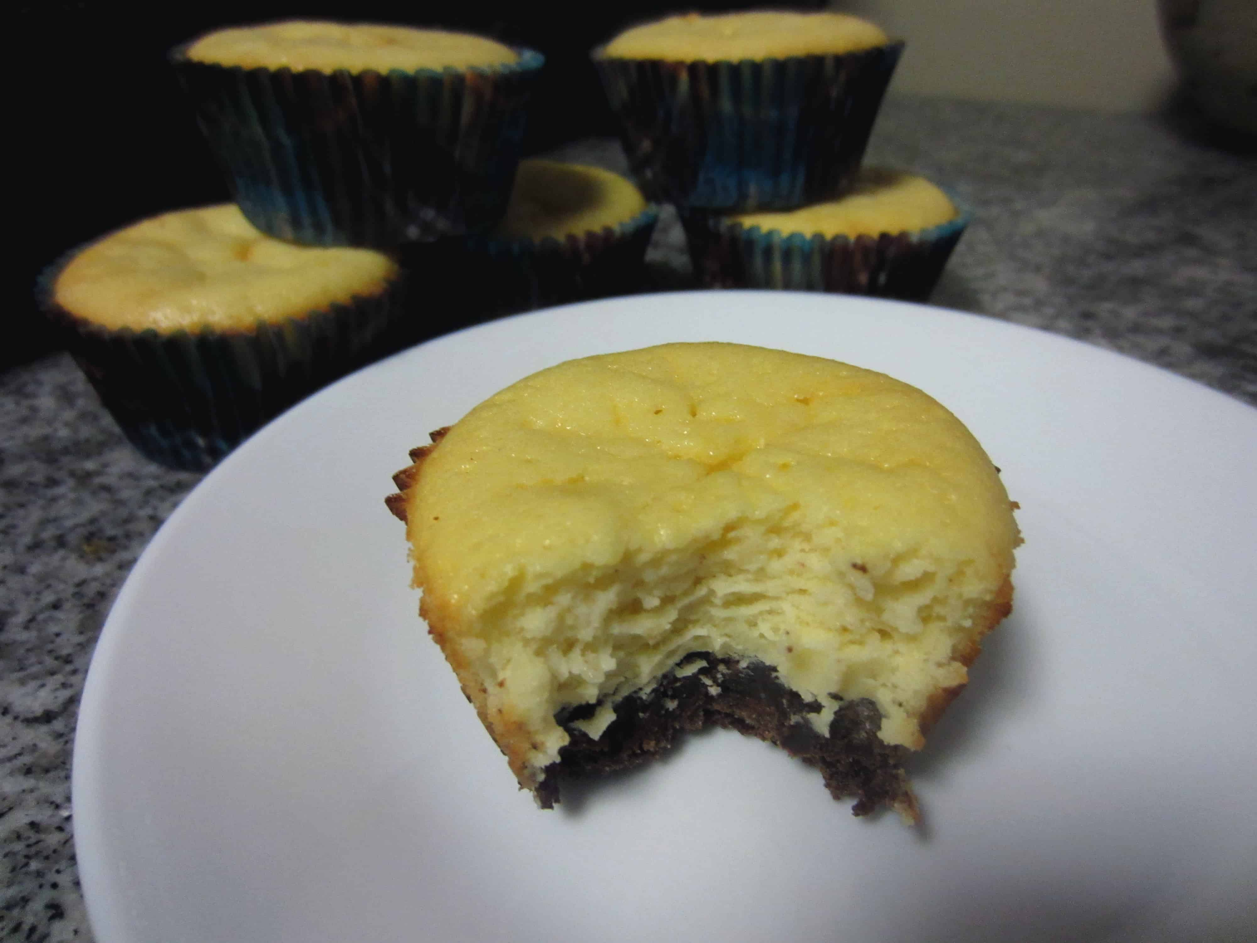 Goat Cheese Cheesecake dark bottom goat cheese cheesecake cups - sweetphi
