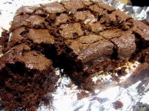 Brownies made with guinness