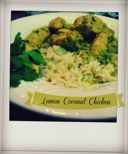 Lemon Coconut Chicken and Rice