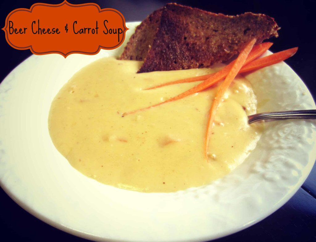 Beer Cheese and Carrot Soup