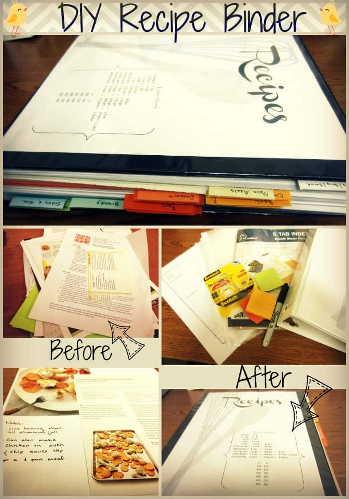 Diy recipe binder tutorial templates sweetphi for Homemade cookbooks template