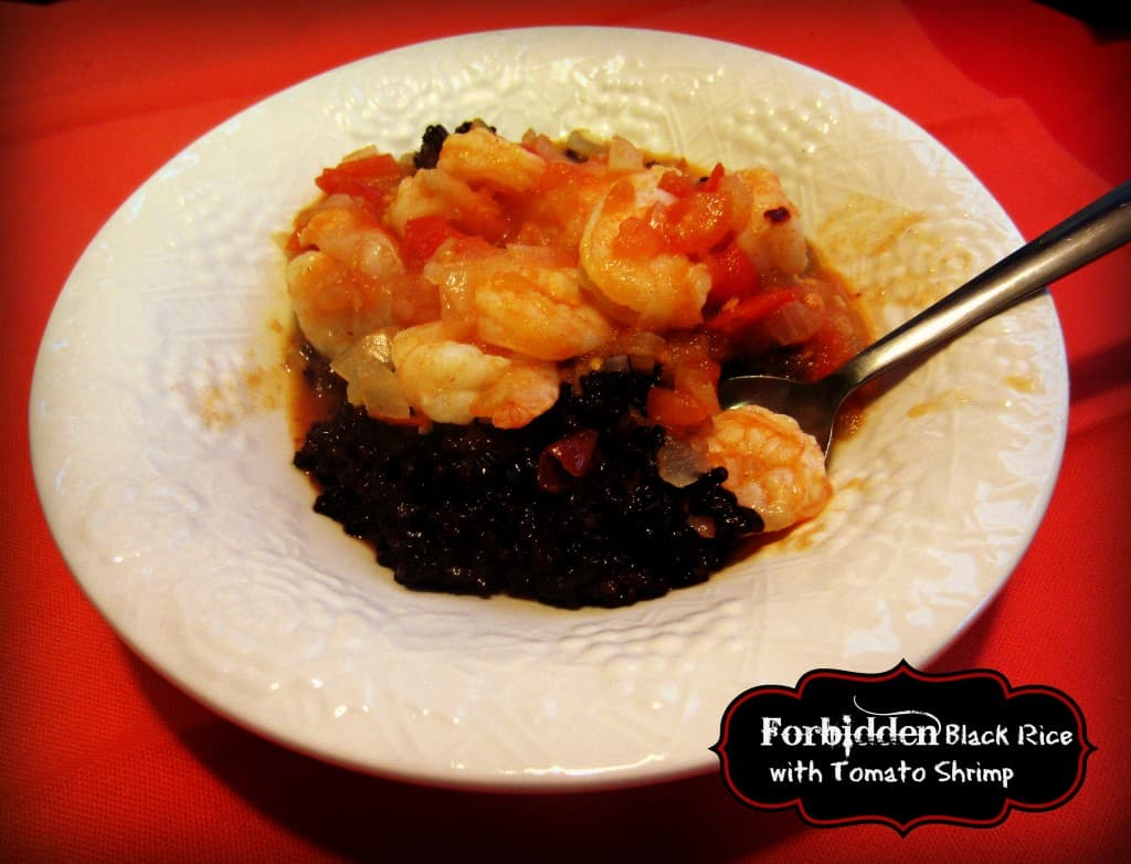 Forbidden Black Rice with Tomato Shrim