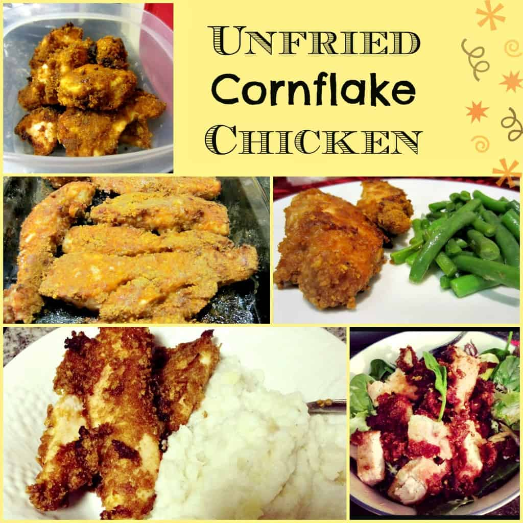 Unfried Cornflake Chicken