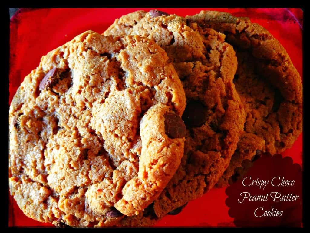 crispy chocolate peanut butter cookies