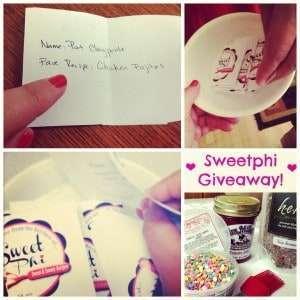 Sweetphi Blog Giveaway
