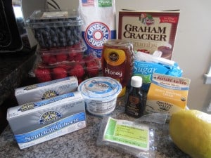 red white and blue cheesecake ingredients