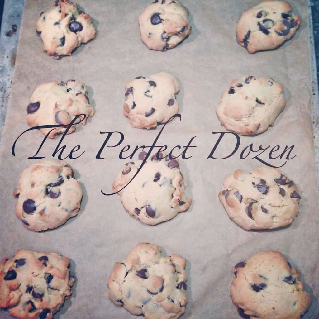 The Perfect dozen chocolate chip cookies