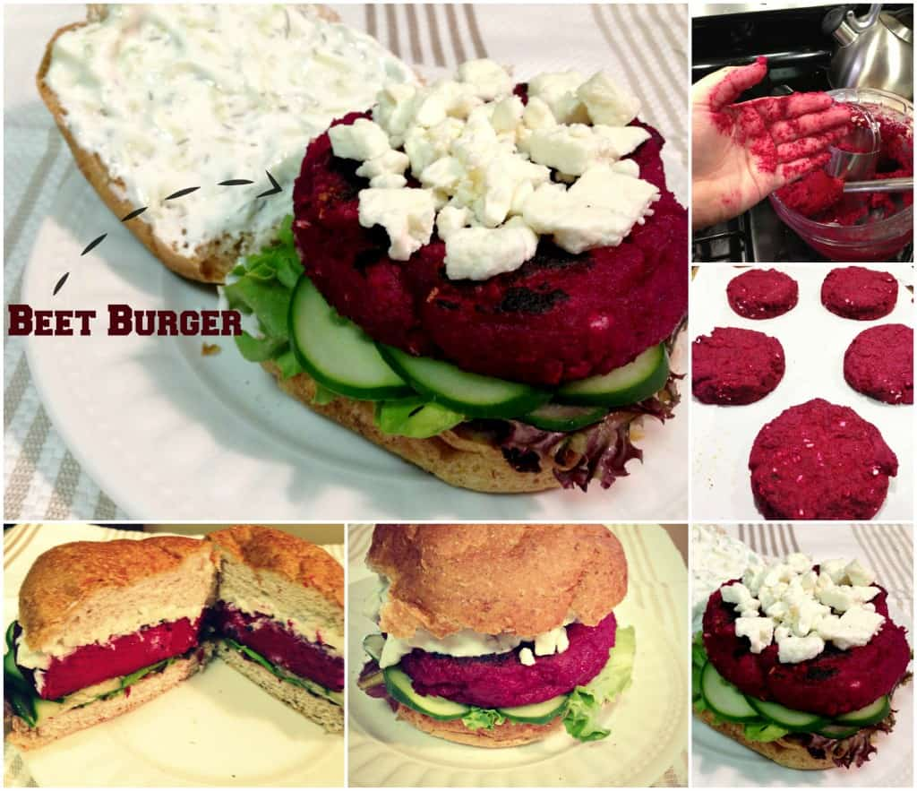 Beet Burger Collage