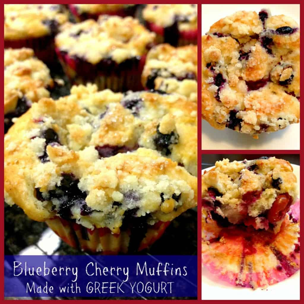 Blueberry Cherry Muffin collage