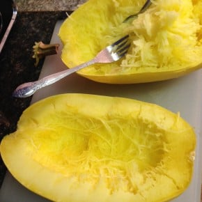 Cleaning Spaghetti Squash