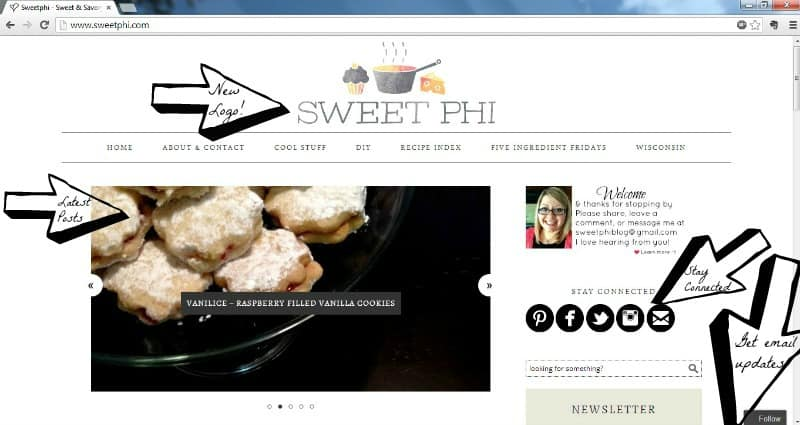Sweetphi Website Updates