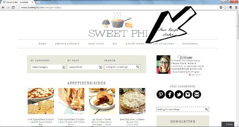 Sweetphi Recipe Index