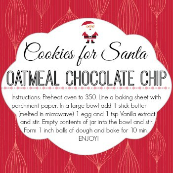 Cookies for Santa Labels