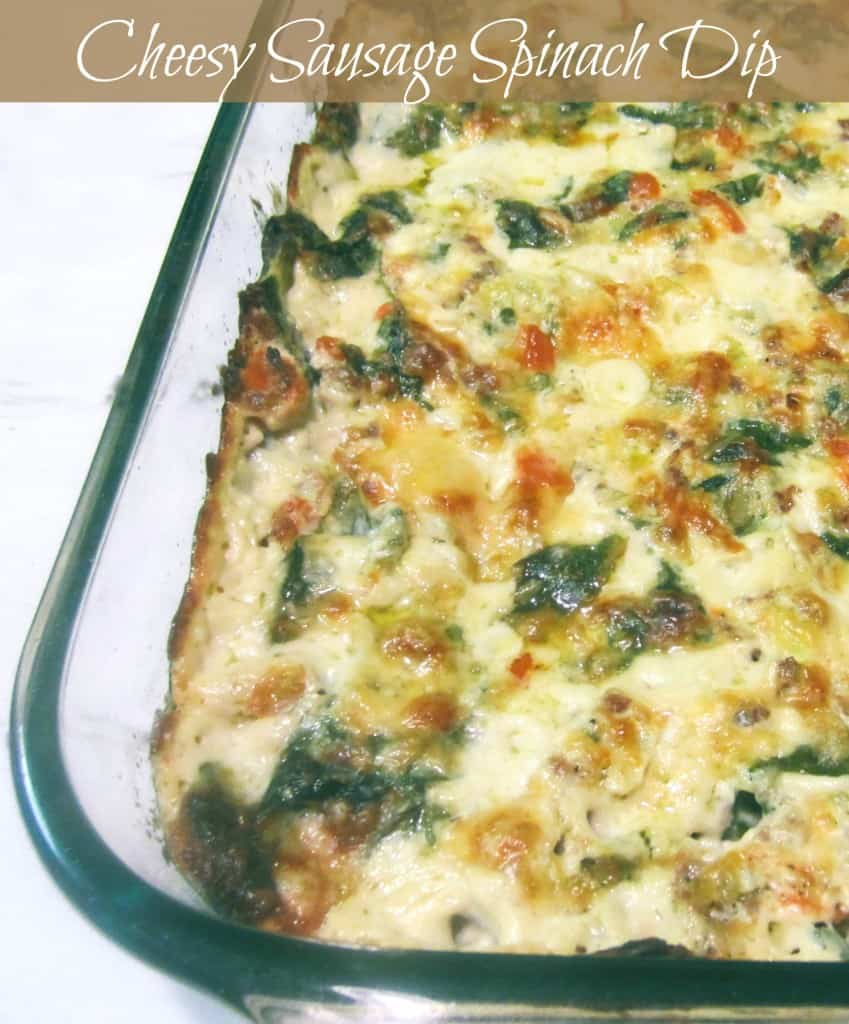 Cheesy Spinach Sausage Dip