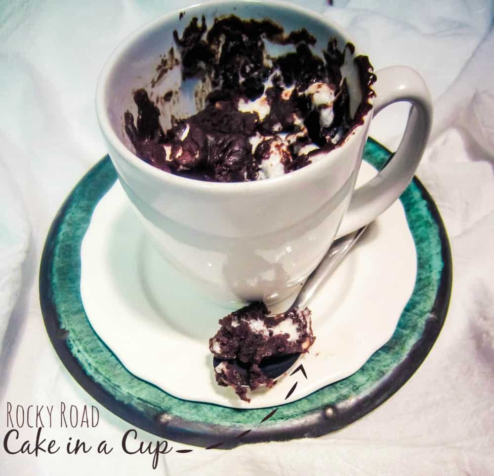 rocky road cake in a cup