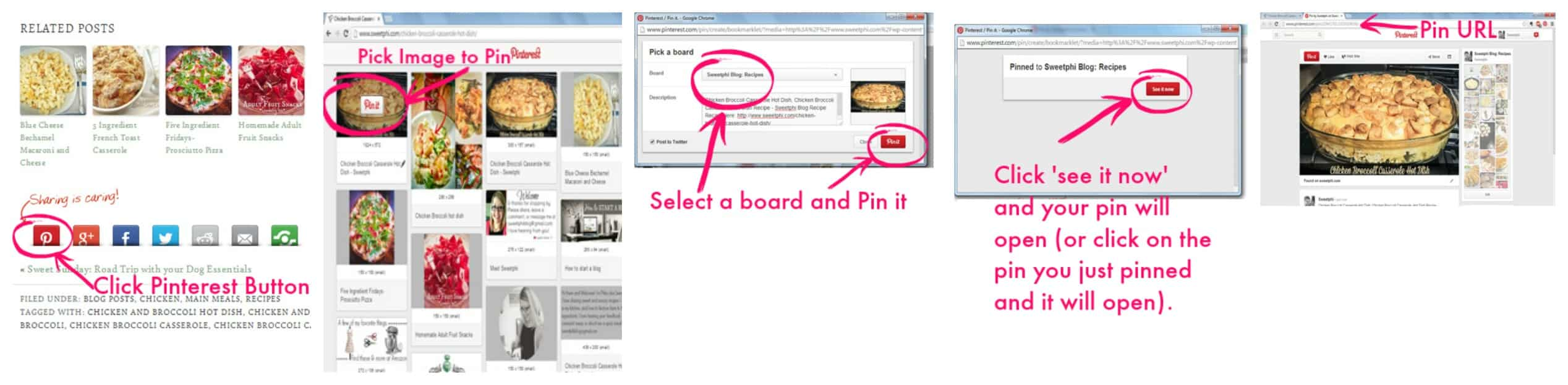 How to find a pin url