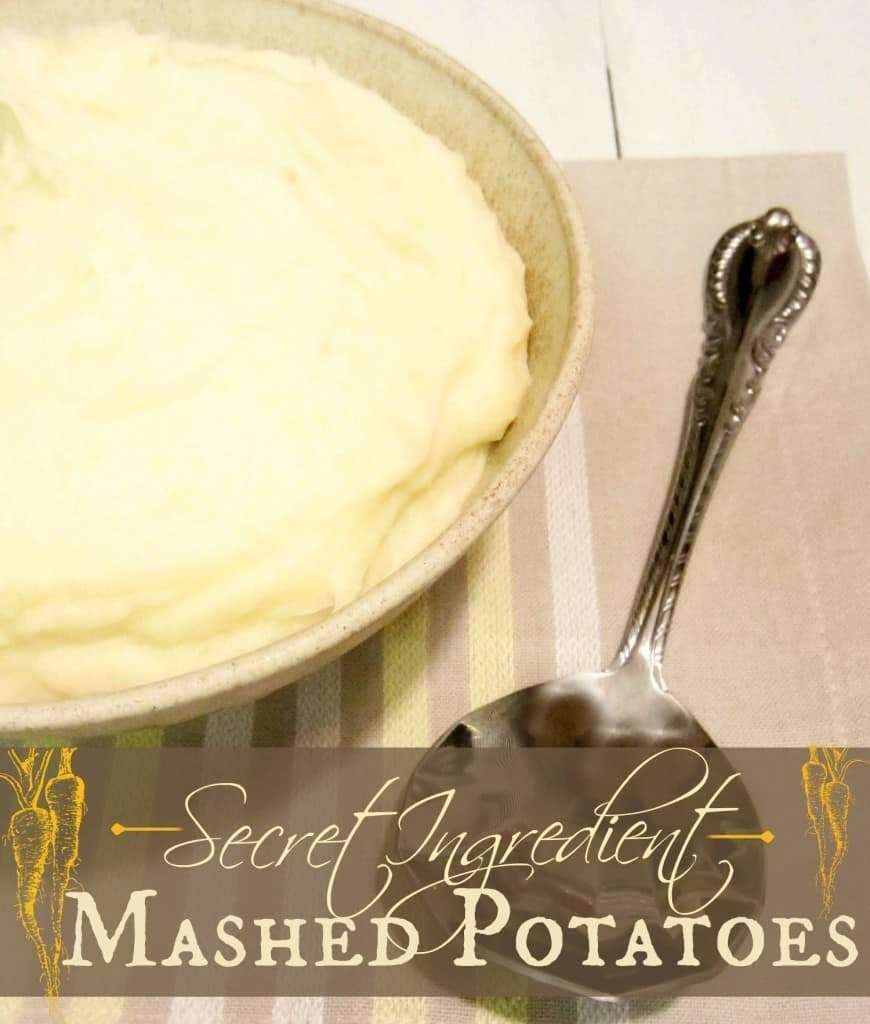 Secret Ingredient Mashed Potatoes