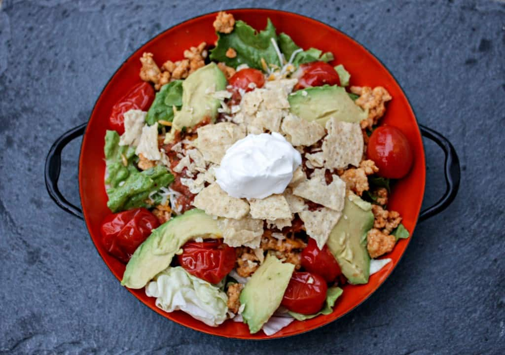 Trukey Taco Salad with Blistered Tomatoes