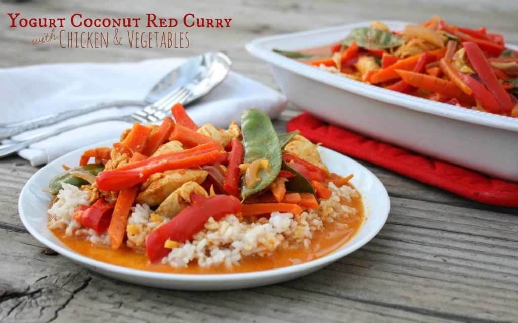 Yogurt Coconut Red Curry with Chicken and Vegetables