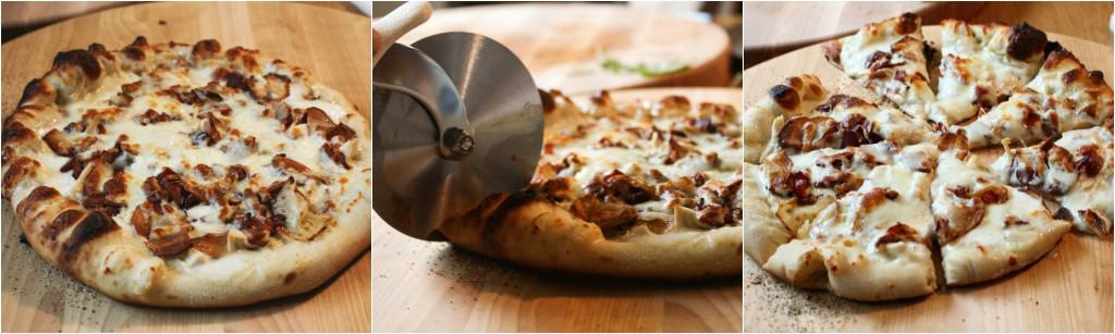 Roasted Potato chicken and bacon pizza