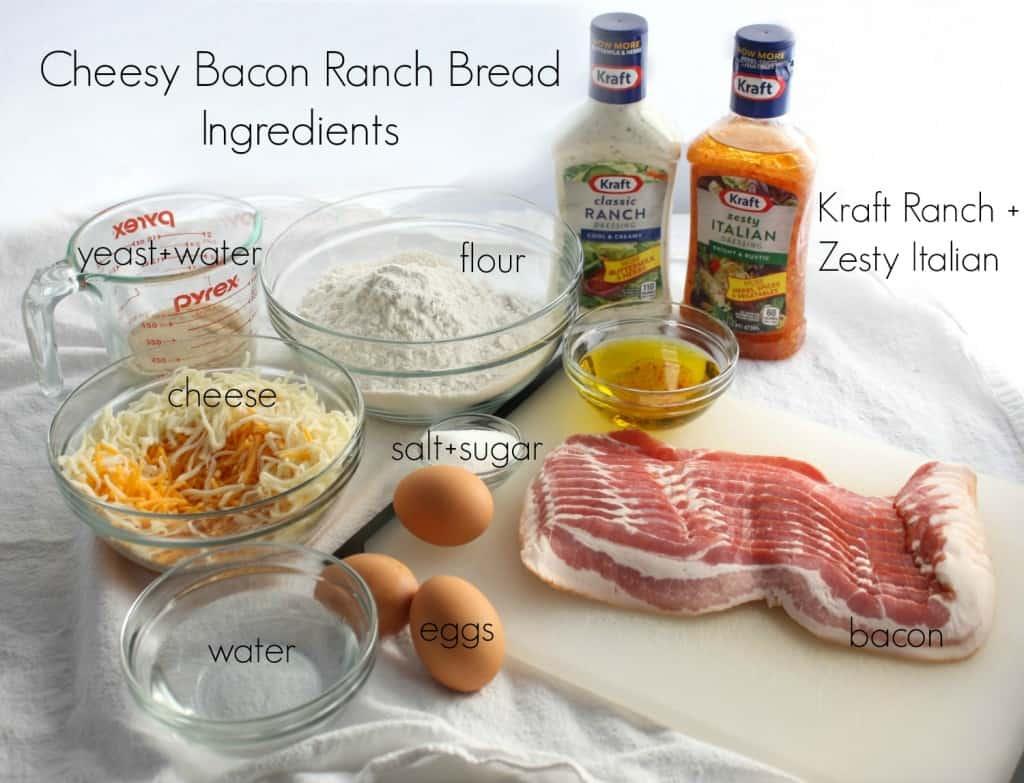 Cheesy Bacon Ranch Bread Ingredients