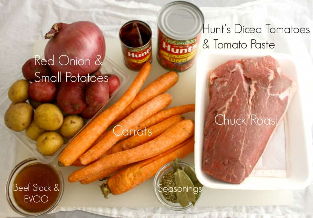 Fire Roasted Tomato Chuck Roast Ingredients