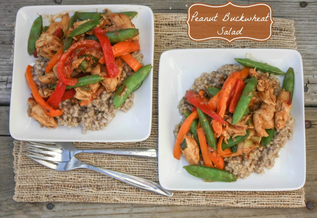 Peanut Buckwheat Salad with Chicken and Vegetables