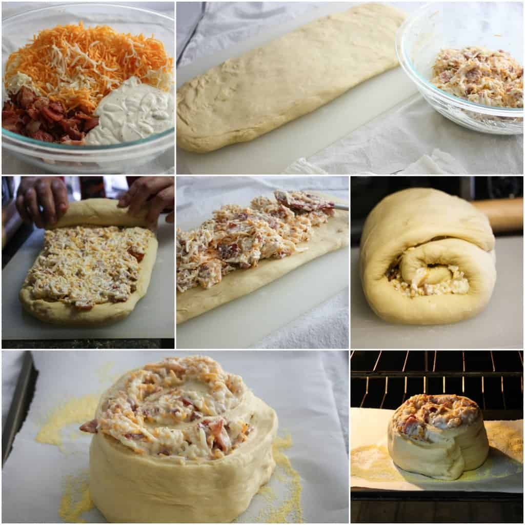 how to make Cheesy Bacon ranch bread