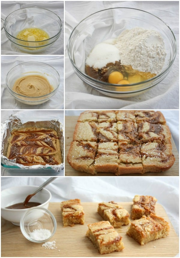How to make One Bowl Caramel Salted Blondies
