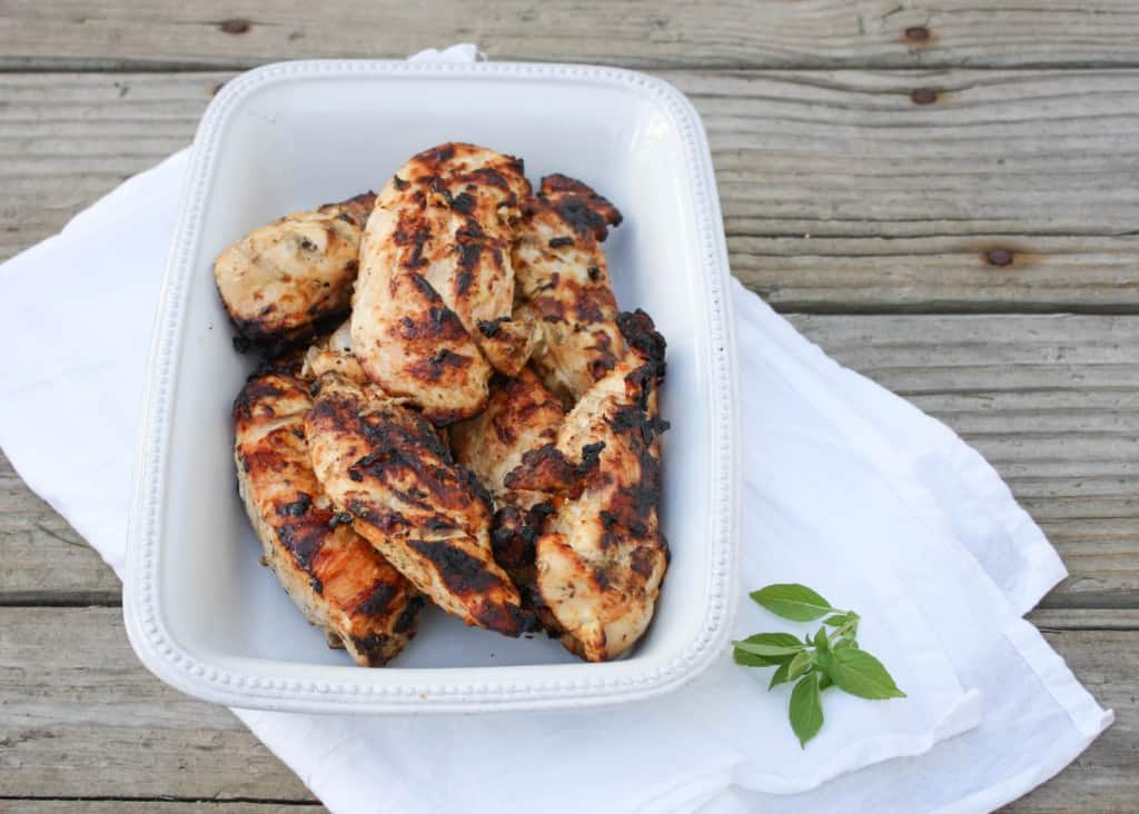 Lemon Basil Chicken - made with a yogurt marinade