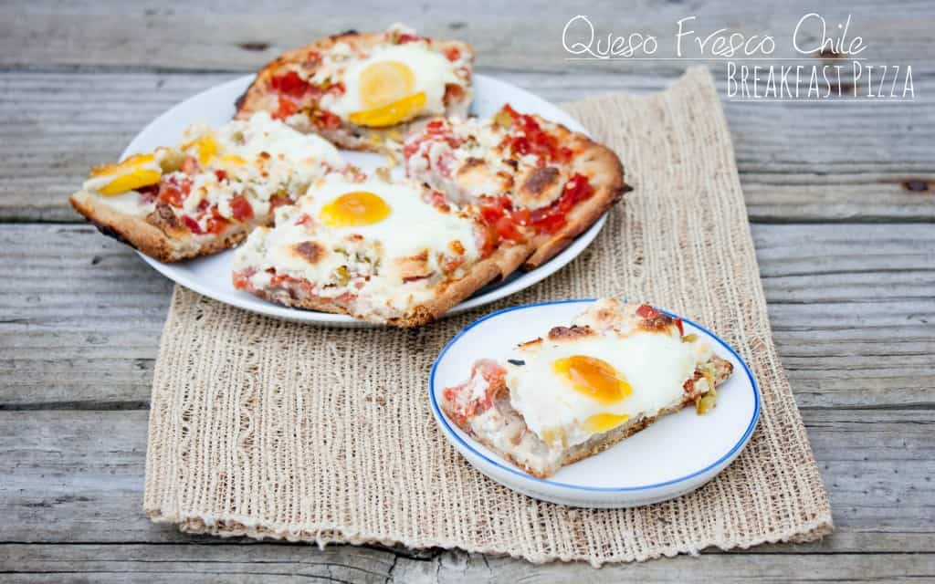 Queso Fresco Chile Breakfast Pizza made with Stonefire Pizza Crusts