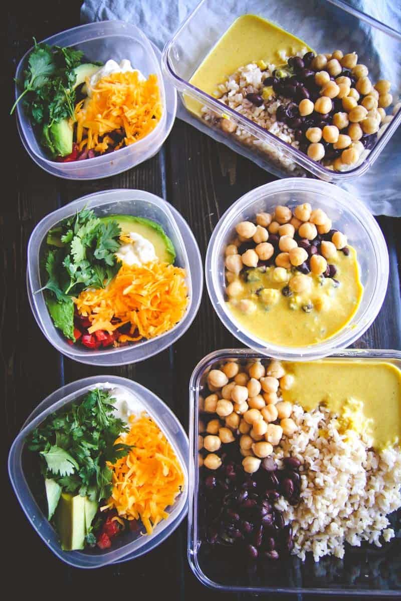 The whole bowl recipe - vegetarian meal prepping - vegetarian meal planning recipe from @Sweetphi