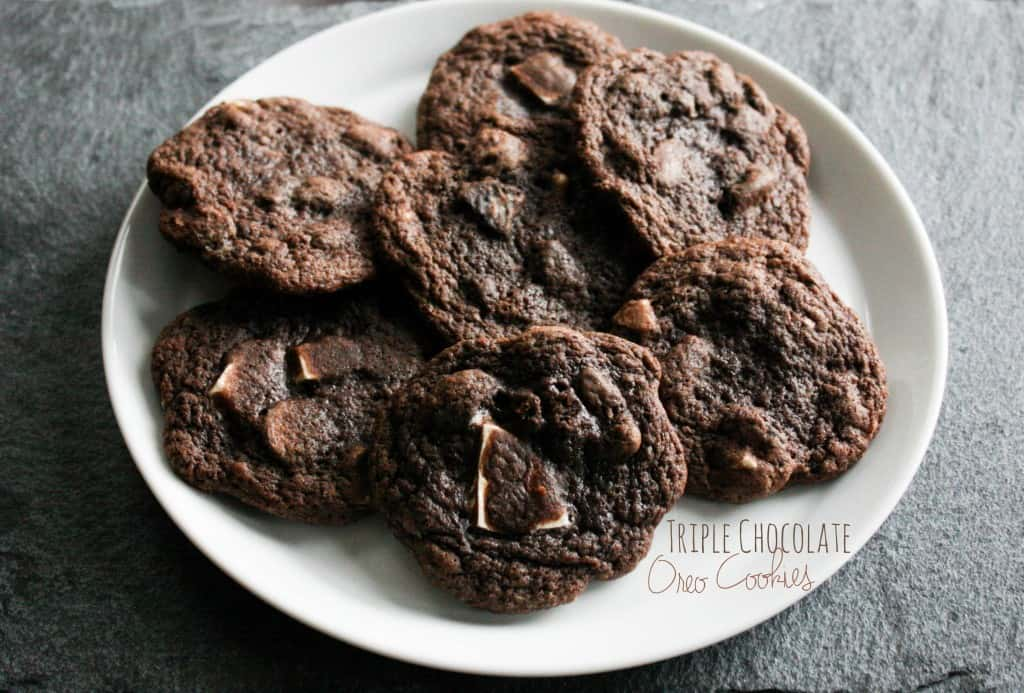 Triple Chocolate Oreo Cookies - Sweetphi