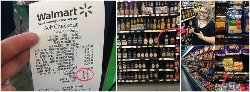 Walmart rollback prices on Kraft