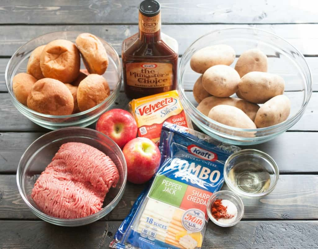 bbq apple cheddar slider ingredients