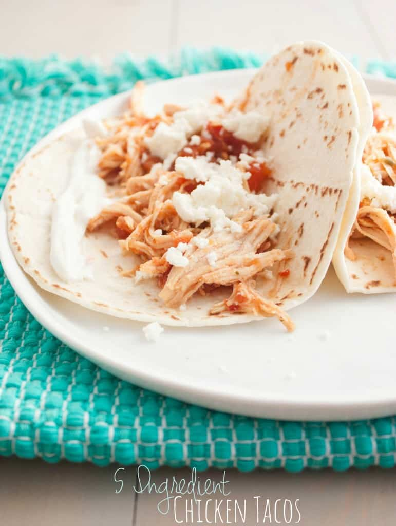 5-Ingredient-Chicken-Tacos - My favorite chicken tacos