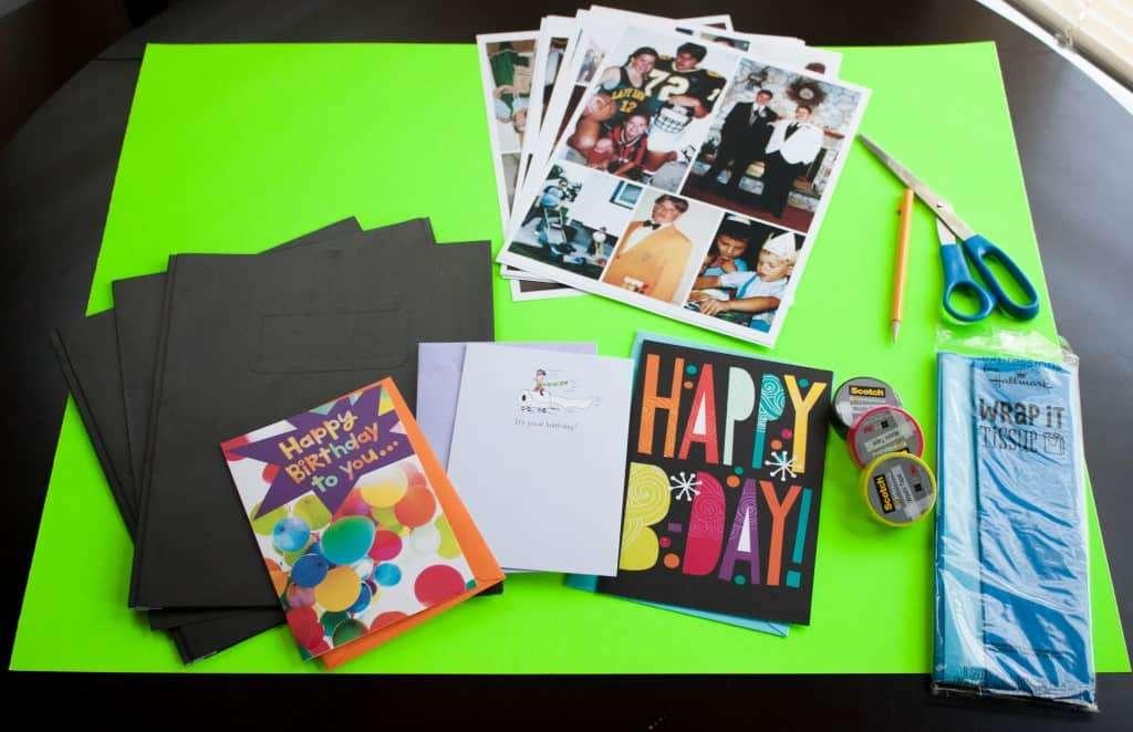 Creative card idea for a 30th birthday party