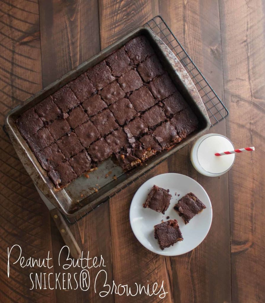 Peanut Butter-Snickers-Brownies- aka 'husband' brownies