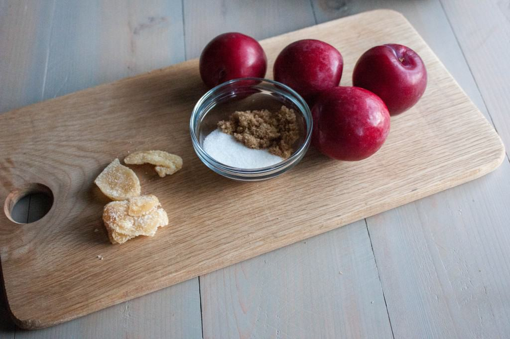 Ginger-baked-plums-ingredients
