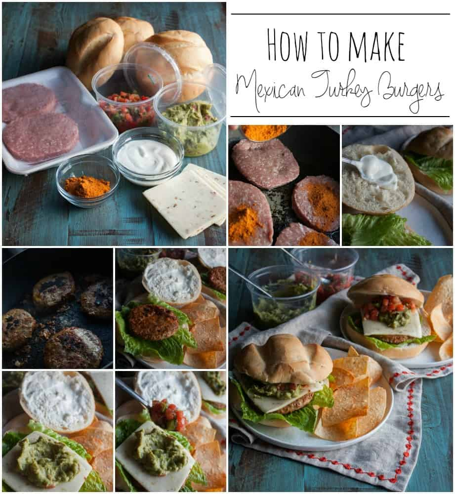 How to make Mexican Turkey Burgers-