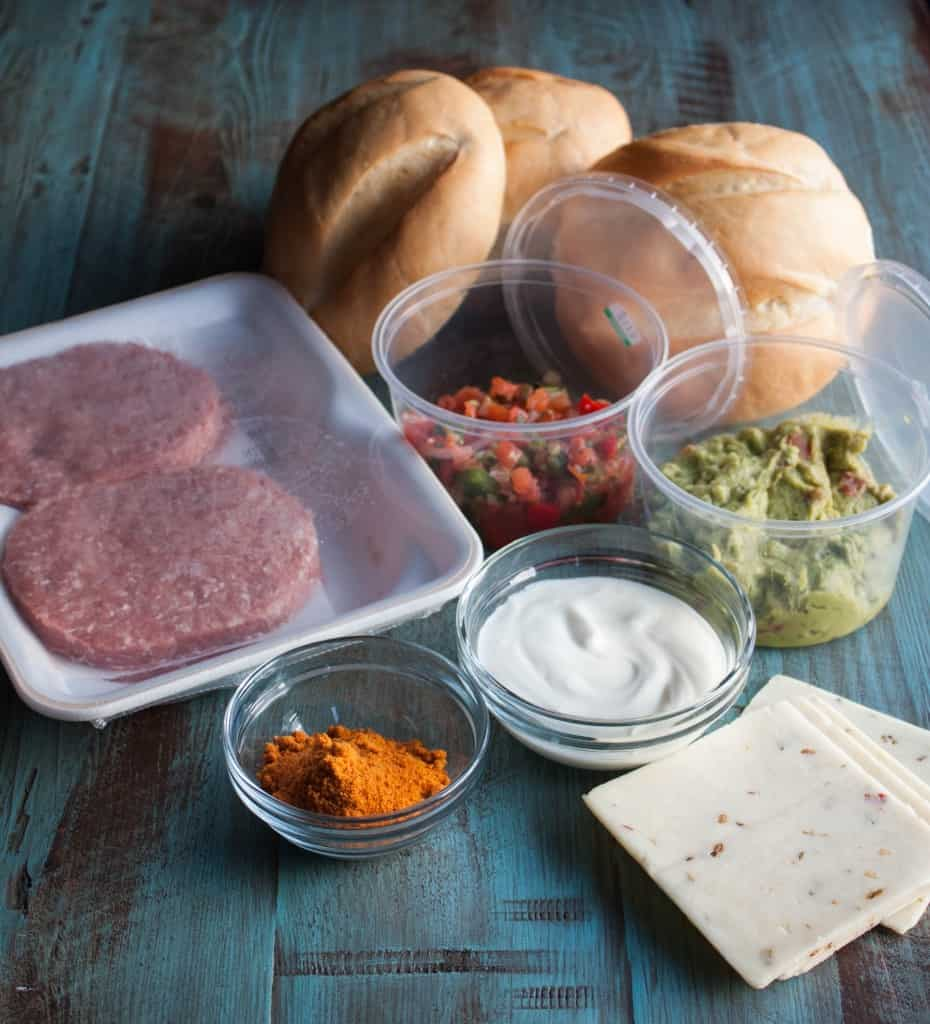 Mexican-Turkey-Burgers - Ingredients