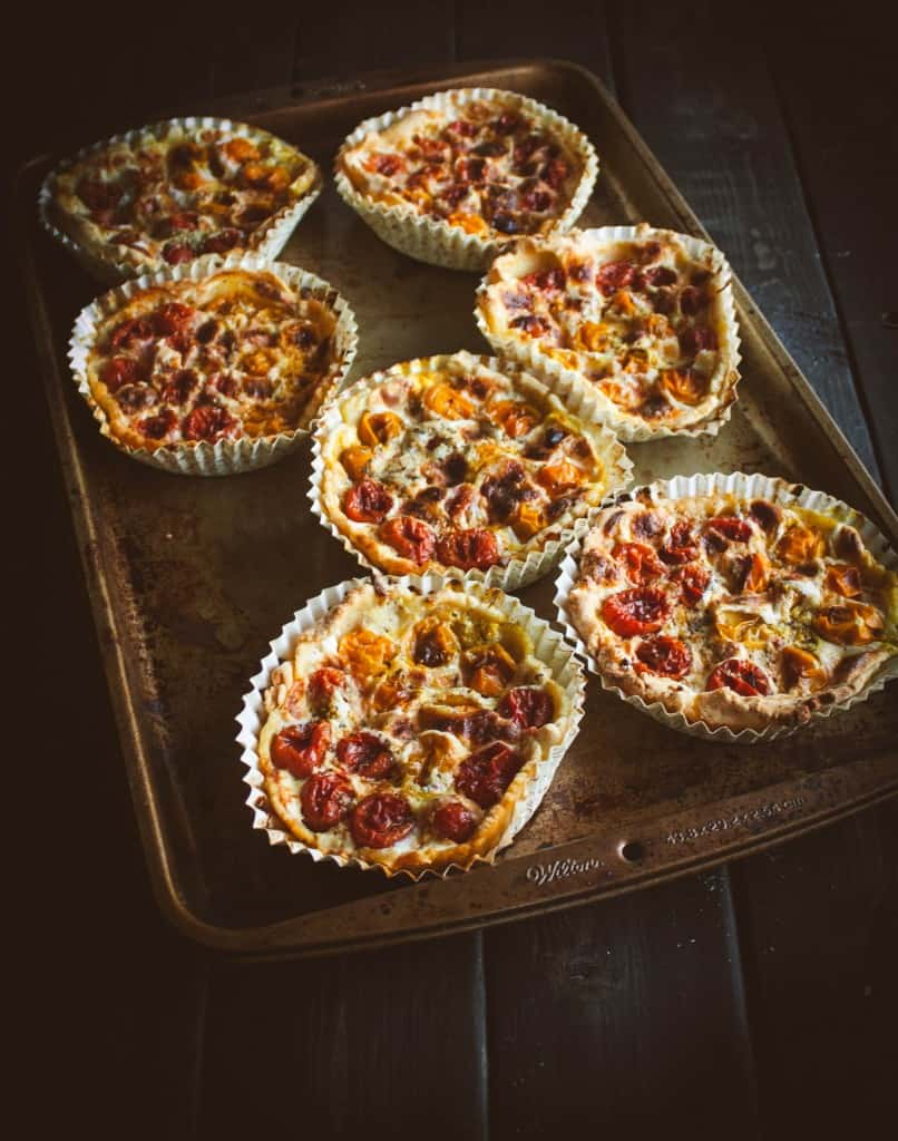 Grape-tomato-tarts