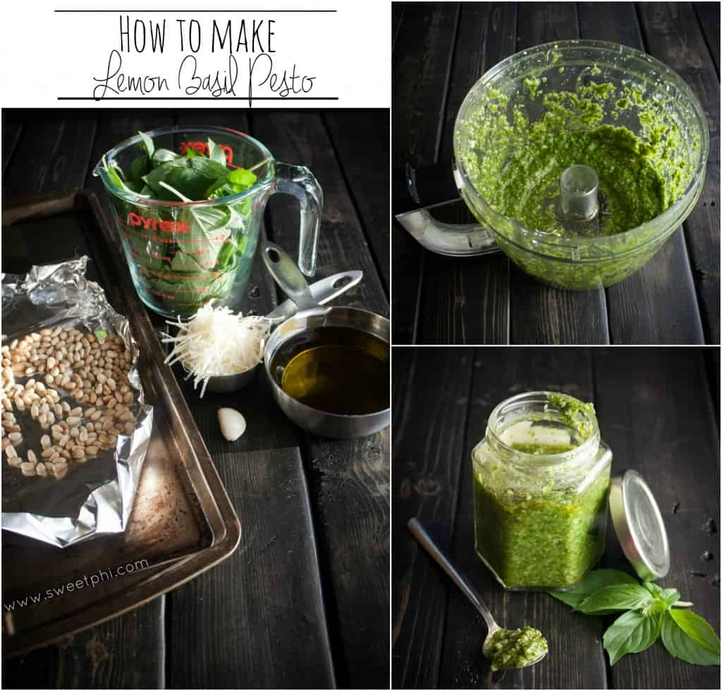 how to make lemon basil pesto